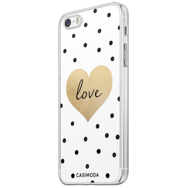 Casimoda iPhone 5/5S/SE siliconen hoesje - Love dots
