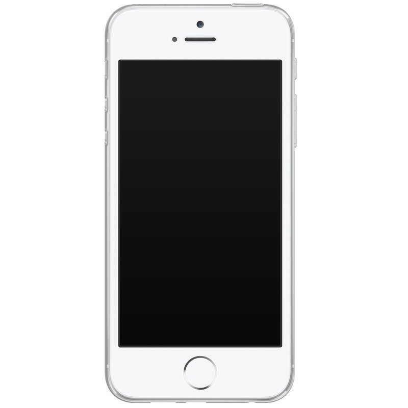 Casimoda iPhone 5/5S/SE siliconen hoesje - Stone grid