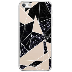 iPhone 5/5S/SE siliconen hoesje - Abstract painted
