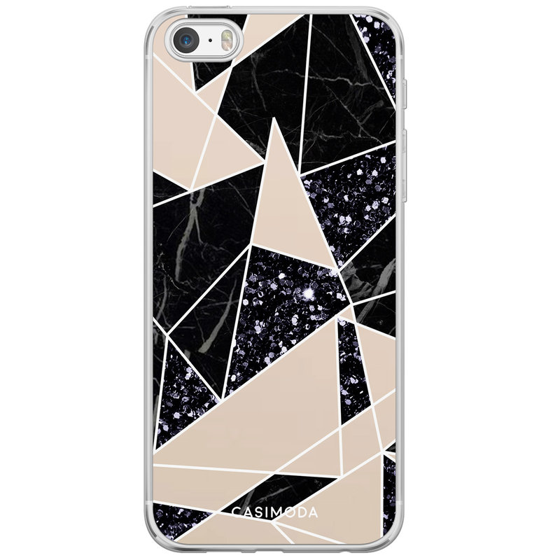 Casimoda iPhone 5/5S/SE siliconen hoesje - Abstract painted