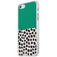 Casimoda iPhone 5/5S/SE siliconen hoesje - Wild dots