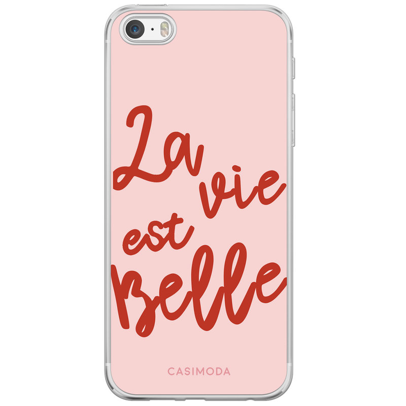Casimoda iPhone 5/5S/SE siliconen hoesje - La vie est belle