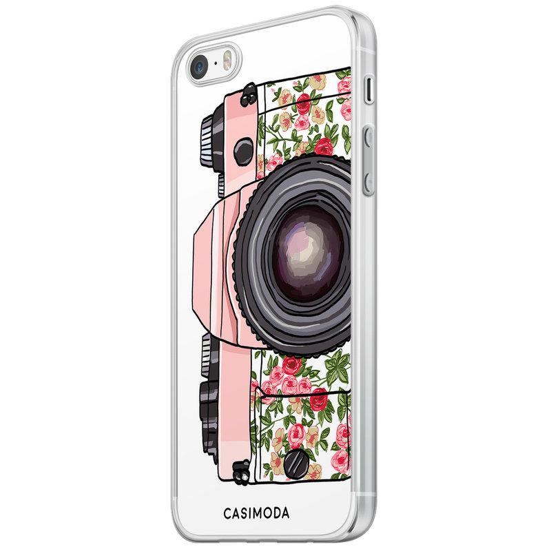 Casimoda iPhone 5/5S/SE siliconen hoesje - Hippie camera