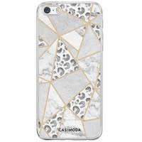 Casimoda iPhone 5/5S/SE siliconen hoesje - Stone & leopard print