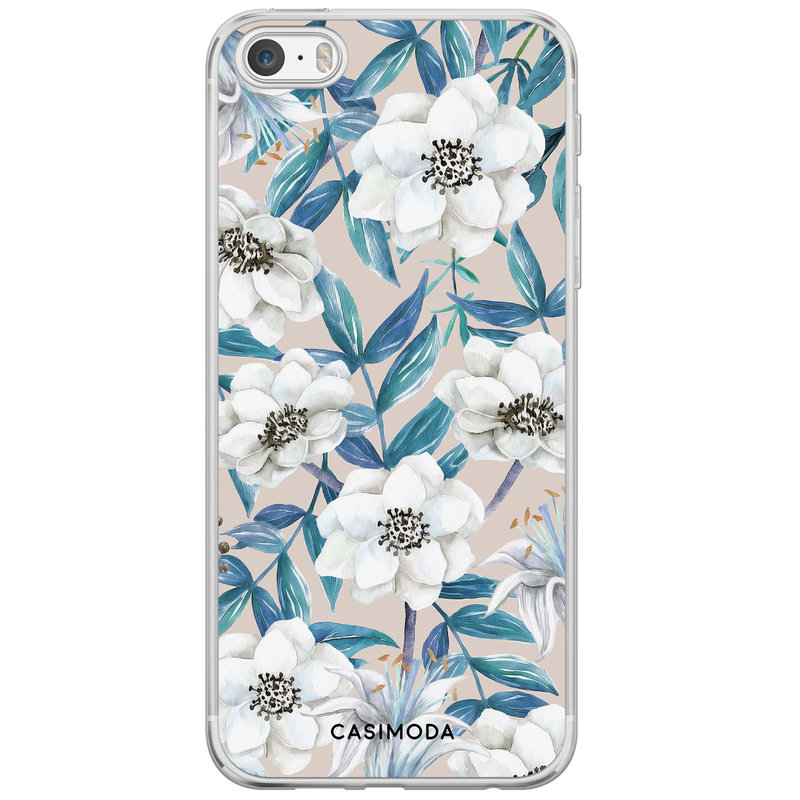 Casimoda iPhone 5/5S/SE siliconen hoesje - Touch of flowers