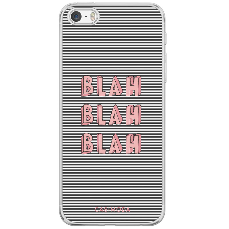 Casimoda iPhone 5/5S/SE siliconen hoesje - Blah blah blah