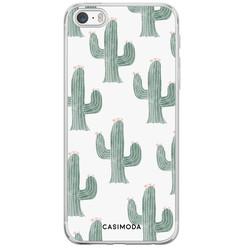Casimoda iPhone 5/5S/SE siliconen hoesje - Cactus print