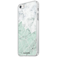 Casimoda iPhone 5/5S/SE siliconen hoesje - Marmer mint mix
