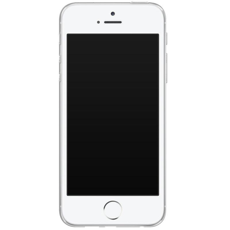 Casimoda iPhone 5/5S/SE siliconen hoesje - Palm leaves silhouette