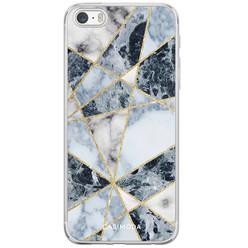 Casimoda iPhone 5/5S/SE siliconen hoesje - Marmer blauw