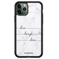 Casimoda iPhone 11 Pro Max glazen hardcase - Live laugh love