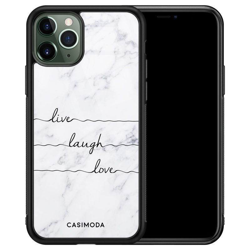 Casimoda iPhone 11 Pro Max glazen hardcase - Live laugh love