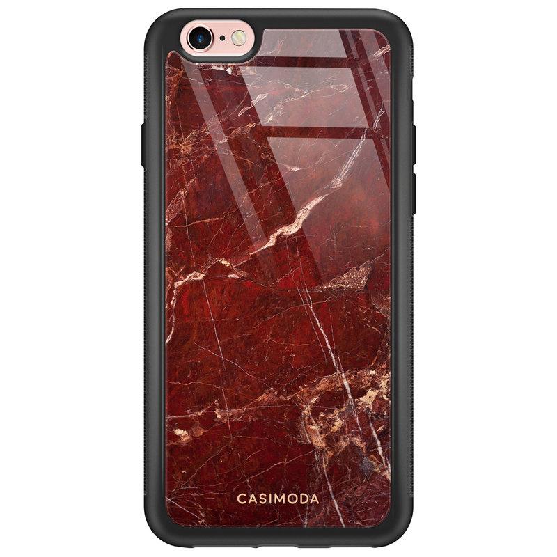 Casimoda iPhone 6/6s glazen hardcase - Marmer rood