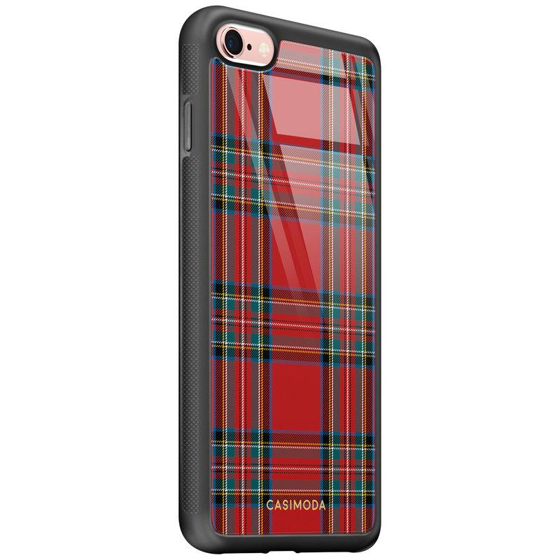 Casimoda iPhone 6/6s glazen hardcase - Tartan rood