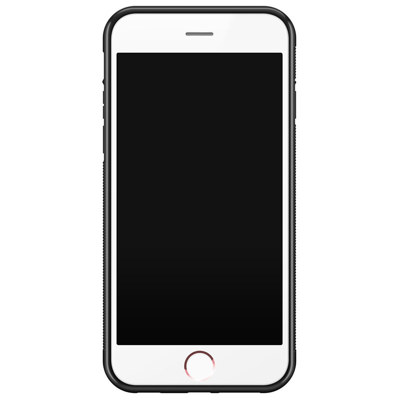 Casimoda iPhone 6/6s glazen hardcase - Pink dots