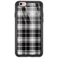 Casimoda iPhone 6/6s glazen hardcase - Tartan zwart
