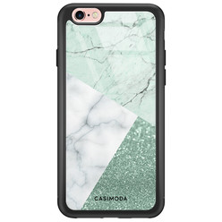 Casimoda iPhone 6/6s glazen hardcase - Minty marmer collage