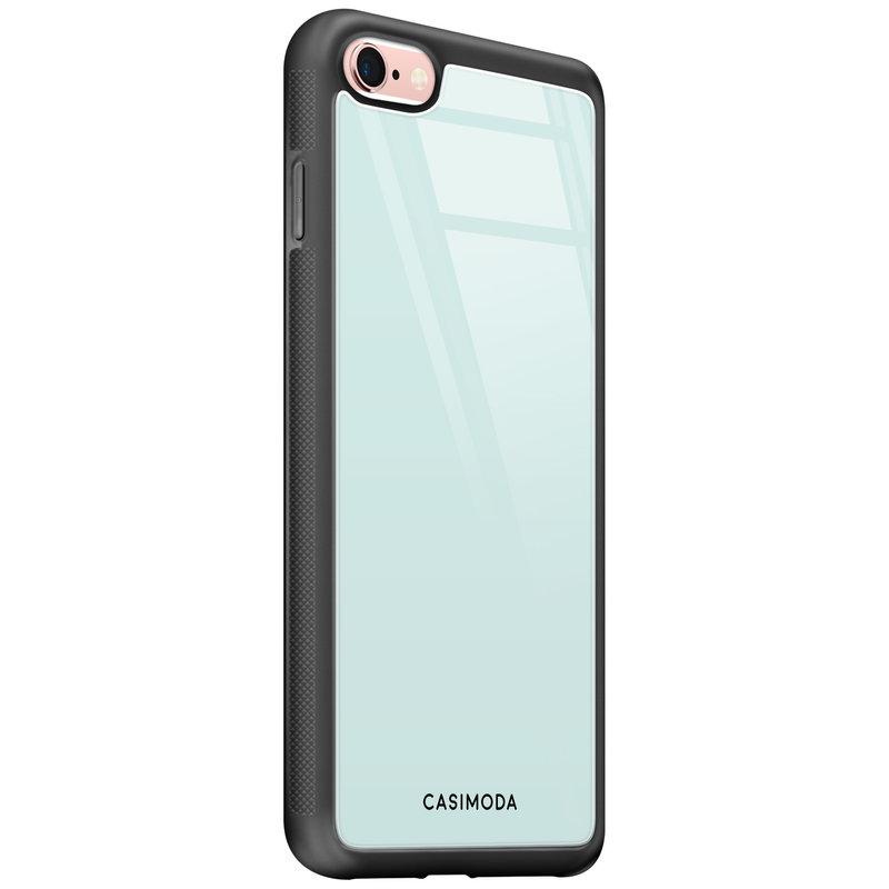 Casimoda iPhone 6/6s glazen hardcase - Pastel blauw