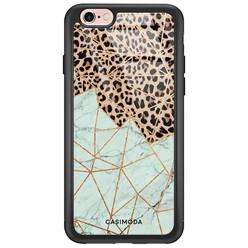 Casimoda iPhone 6/6s glazen hardcase - Luipaard marmer mint