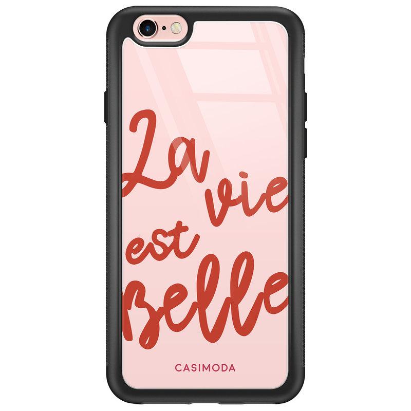 Casimoda iPhone 6/6s glazen hardcase - La vie est belle