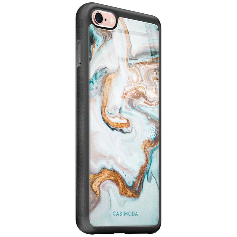 Casimoda iPhone 6/6s glazen hardcase - Marmer blauw