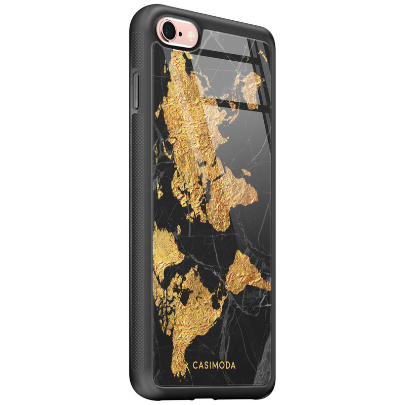 Casimoda iPhone 6/6s glazen hardcase - Wereldkaart