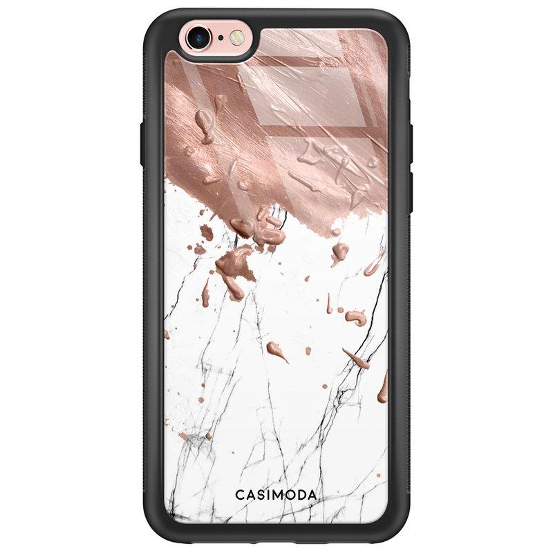 Casimoda iPhone 6/6s glazen hardcase - Marble splash