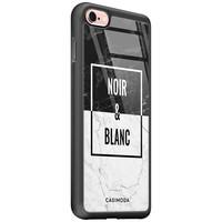 Casimoda iPhone 6/6s glazen hardcase - Noir et blanc