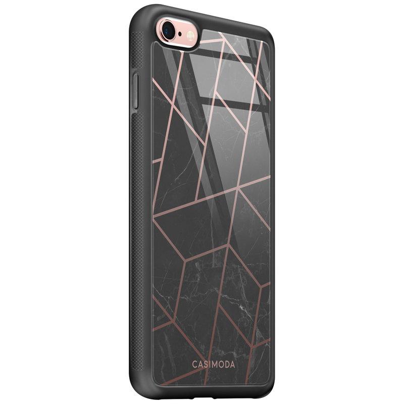 Casimoda iPhone 6/6s glazen hardcase - Marble grid
