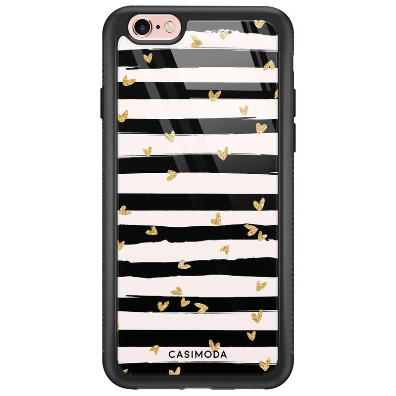 Casimoda iPhone 6/6s glazen hardcase - Hart streepjes
