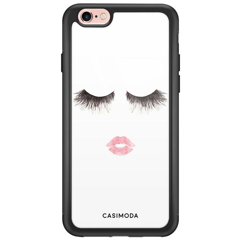 Casimoda iPhone 6/6s glazen hardcase - Kiss wink