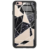 Casimoda iPhone 6/6s glazen hardcase - Abstract painted