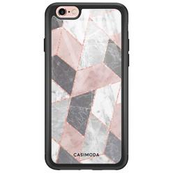 iPhone 6/6s glazen hardcase - Stone grid