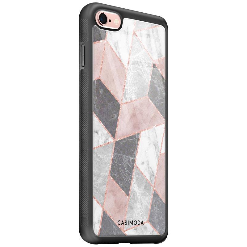 Casimoda iPhone 6/6s glazen hardcase - Stone grid