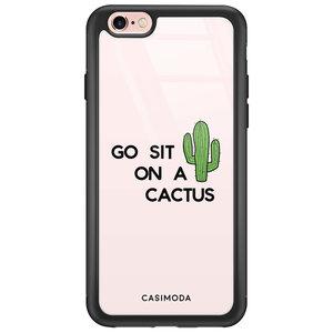 iPhone 6/6s glazen hardcase - Go sit on a cactus