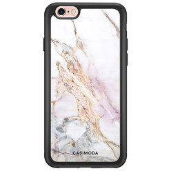 iPhone 6/6s glazen hardcase - Parelmoer marmer