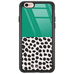 iPhone 6/6s glazen hardcase - Wild dots