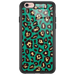 Casimoda iPhone 6/6s glazen hardcase - Luipaard groen