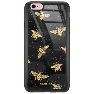 iPhone 6/6s glazen hardcase - Bee yourself