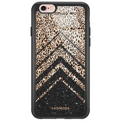 iPhone 6/6s glazen hardcase - Chevron luipaard