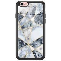 Casimoda iPhone 6/6s glazen hardcase - Abstract marmer blauw