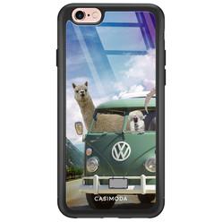 iPhone 6/6s glazen hardcase - Lama adventure