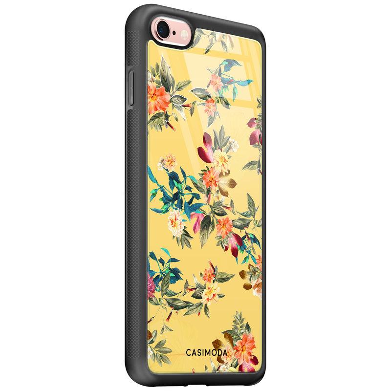 Casimoda iPhone 6/6s glazen hardcase - Florals for days
