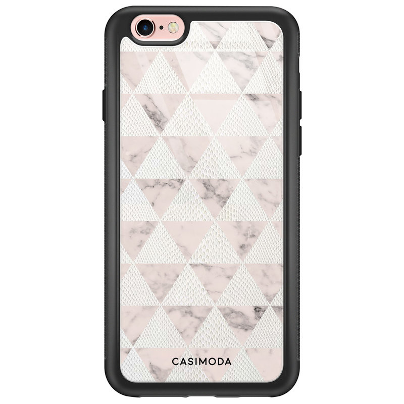 Casimoda iPhone 6/6s glazen hardcase - Snake triangles