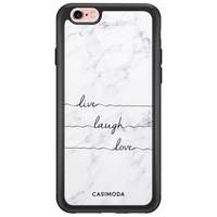 Casimoda iPhone 6/6s glazen hardcase - Live, laugh, love