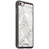 Casimoda iPhone 6/6s glazen hardcase - Stone & leopard