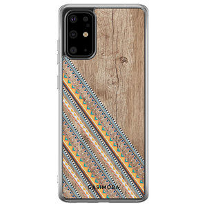 Casimoda Samsung Galaxy S20 Plus siliconen hoesje - Wooden stripes