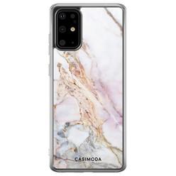 Casimoda Samsung Galaxy S20 Plus siliconen hoesje - Parelmoer marmer