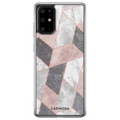 Casimoda Samsung Galaxy S20 Plus siliconen hoesje - Stone grid