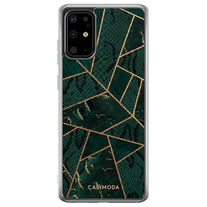 Casimoda Samsung Galaxy S20 Plus siliconen hoesje - Abstract groen